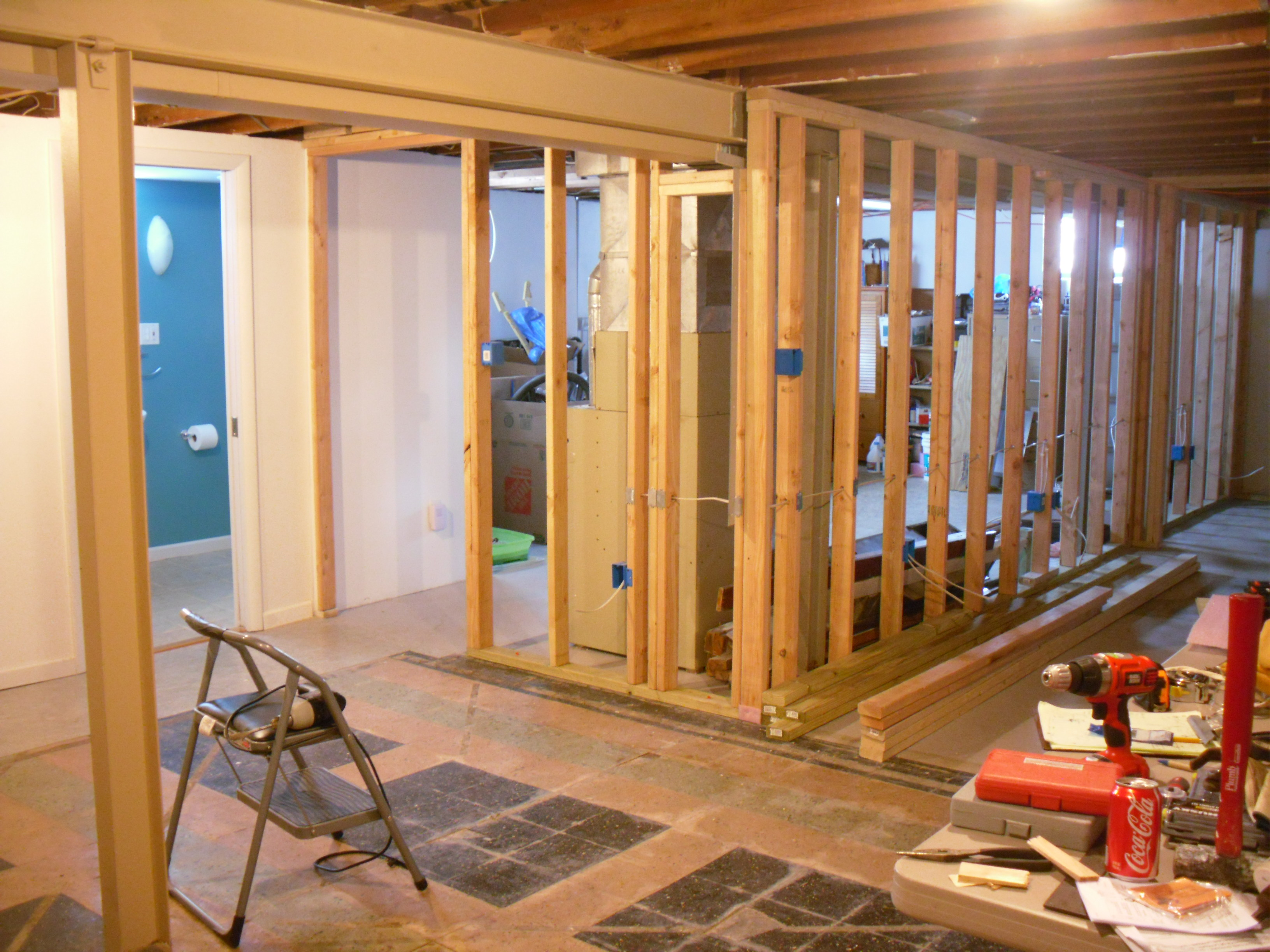 Fascinating 10 floating wall frame design inspiration of for How to build floating walls in basement