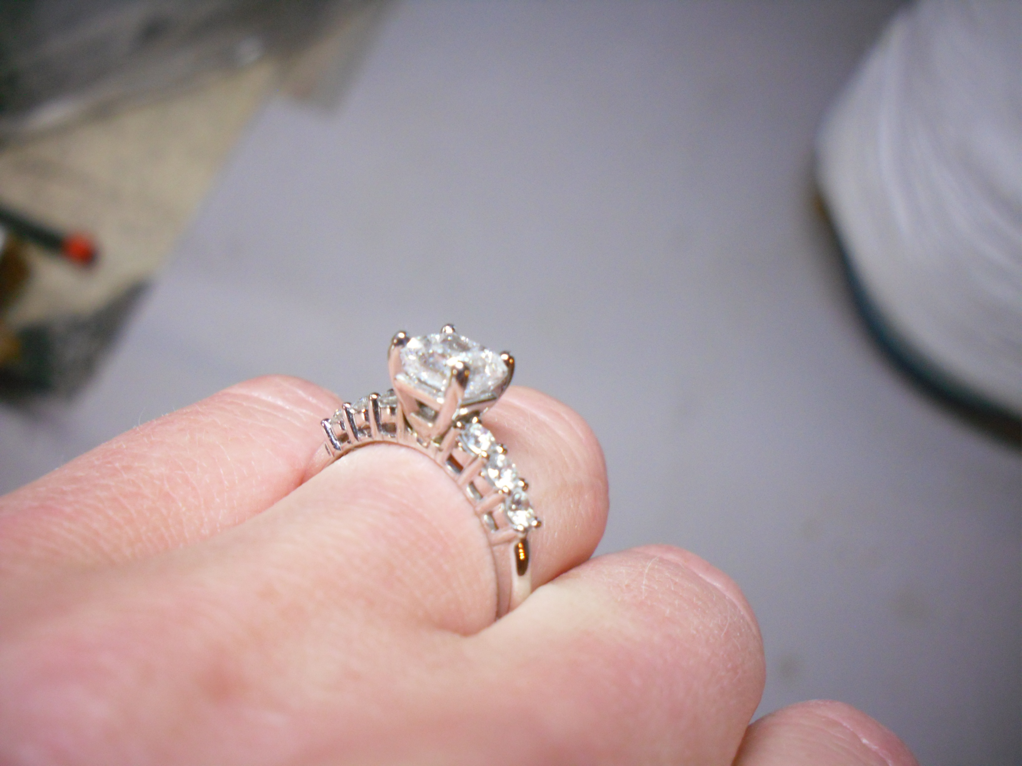 Awesome Big Diamond Ring In Box - Best Jewelry