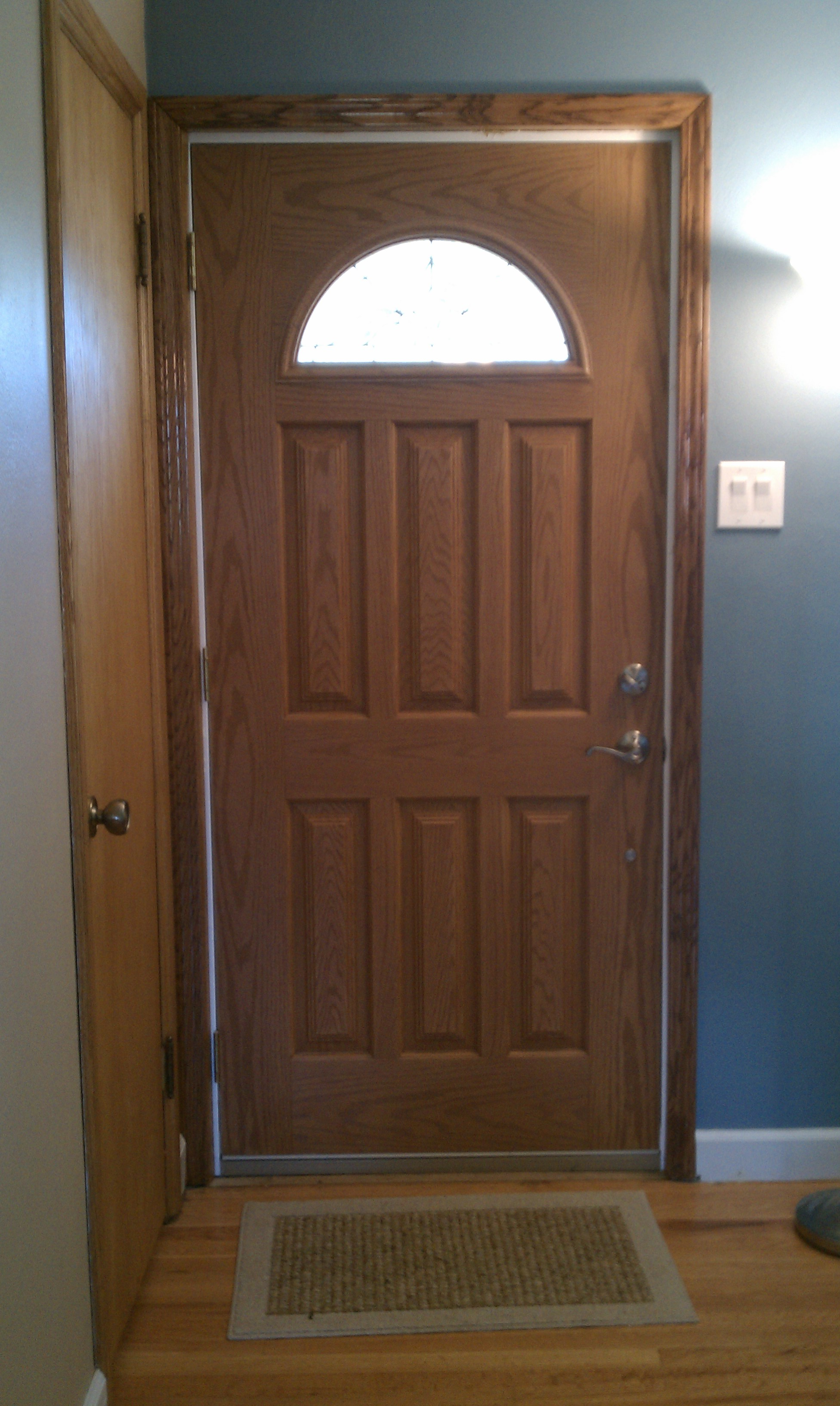 3264 #63442E  Leave The Interior Door Open And Let The Dog Look Out The Storm Door picture/photo Different Color Front Doors 47091952