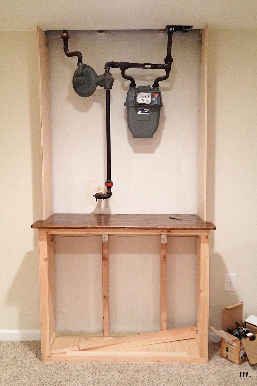 Gas Meter Cabinet Amp Wine Rack Pt 1 Meg S Moments