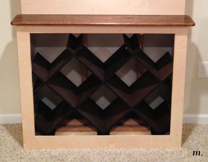 Gas meter cabinet wine rack pt 2 meg 39 s moments for Building a wine rack in a cabinet